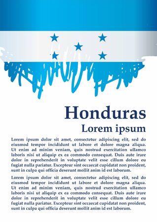 Flag of Honduras, Republic of Honduras. The flag of Honduras. Bright, colorful vector illustration. Stock Vector - 127438893