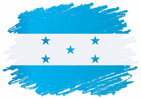 Flag of Honduras, Republic of Honduras. The flag of Honduras. Bright, colorful vector illustration.  イラスト・ベクター素材