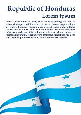 Flag of Honduras, Republic of Honduras. The flag of Honduras. Bright, colorful vector illustration. Illustration