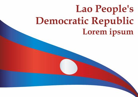 Flag of Laos, Lao People's Democratic Republic. The flag of Laos. Bright, colorful vector illustration.