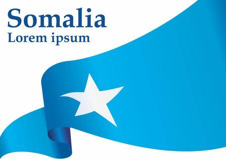 Flag of Somalia, Federal Republic of Somalia. Somalia. Bright, colorful vector illustration. Ilustração