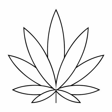 Medical marijuana. Cannabis leaf design Ilustração