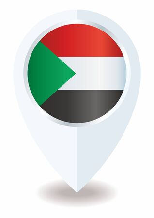 Flag of Sudan, Republic of the Sudan, is a country in Northeast Africa. Template for award design, an official document with the flag of Sudan. Bright, colorful vector illustration.