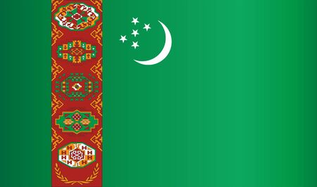 Flag of Turkmenistan, Republic of Turkmenistan. Template for award design, an official document with the flag of Turkmenistan. Bright, colorful vector illustration. Archivio Fotografico - 129632436