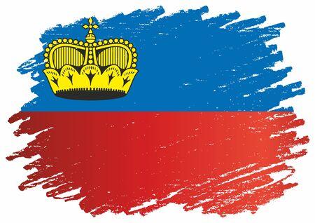 Flag of Liechtenstein, Principality of Liechtenstein. Template for award design, an official document with the flag of Liechtenstein. Bright, colorful vector illustration for graphic and web design.