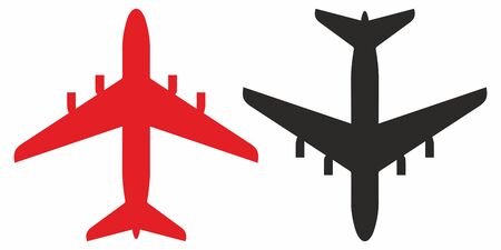 airliner, the silhouette of the plane. Vector Icon. Simple vector illustration for graphic and web design. 일러스트