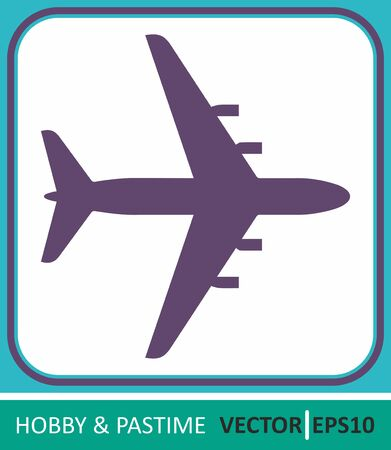 airliner, the silhouette of the plane. Vector Icon. Simple vector illustration for graphic and web design. Illustration