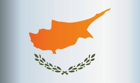 Flag of Cyprus, Republic of Cyprus. Template for award design, an official document with the flag of Cyprus. Bright, colorful vector illustration for graphic and web design.