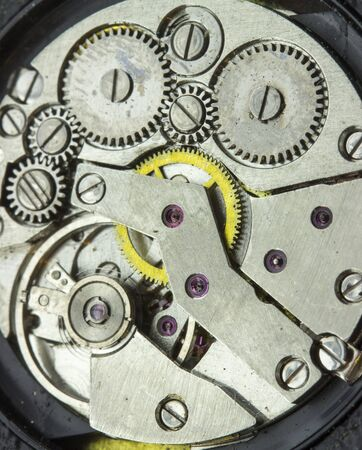 Movement wrist watch, grunge style. wrist watch mechanics