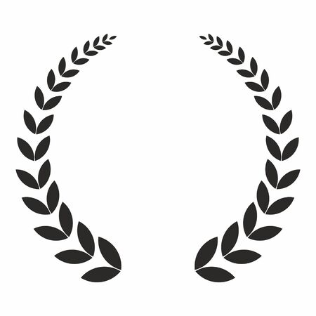 Laurel wreath, vector icon. The concept of the victories and successes. Ilustracje wektorowe