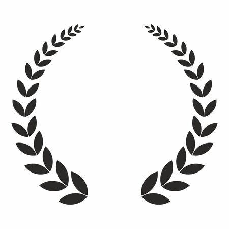 Corona di alloro, icona del vettore. Il concetto delle vittorie e dei successi. Vettoriali