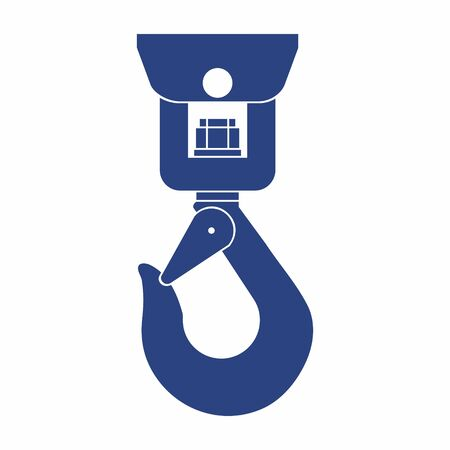 Crane hook icon, Industrial hook - construction crane hook. vector illustration. Vektoros illusztráció