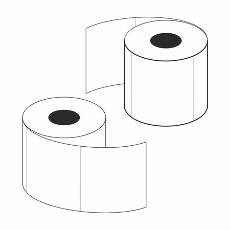 Toilet paper, vector illustration on a white background.