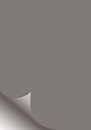 Paper with curled corners vector Element for business message. vector illustration Ilustração