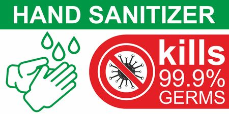 Hand Sanitizer. Sanitizer icon. Antiseptic Anti bacterial and virus solution. Symbol for disinfectant gel labels. Surface cleanser to kill viruses, bacteria and germs.