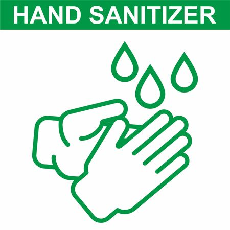 Hand sanitizer Icon. Sanitizer icon. Antiseptic Anti bacterial and virus solution. Symbol for disinfectant gel labels.  イラスト・ベクター素材