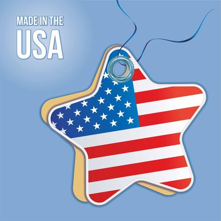Made in the USA labels, signs. USA patriotic signs, american product emblem. Vector illustration.