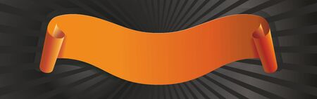 Beautiful orange ribbon, banner for any of your design project, text.