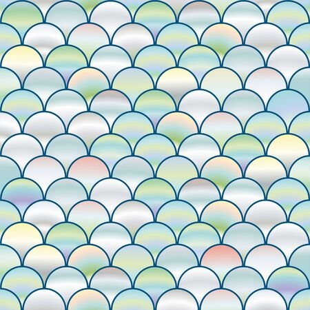Seamless background with pearl circles similar to fish scales, background with pearls.  イラスト・ベクター素材