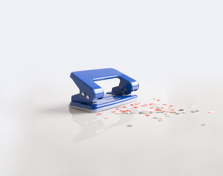 paper punch: paper punch Stock Photo