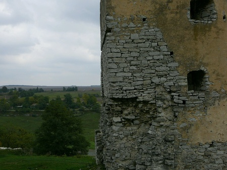 Castle ruins in Ukraine