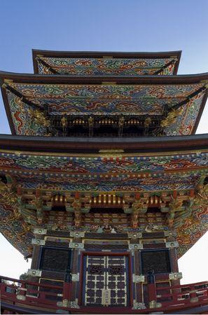 Colorful buddhist pagoda in Japan. Narita -san Temple. Tokyo. Stock fotó