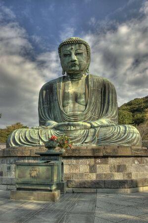 Big Buddha of Kamakura, Japan. Daibutsu. HDR. Stock Photo