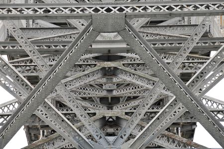 Steel bridge, architecture detail of the geometry of a bridge in Seattle ,Washington. Stock Photo - 7544574