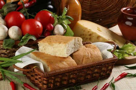 bread photographed in studio on table