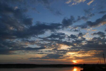 kama: dawn on a warm summer day on the river Kama