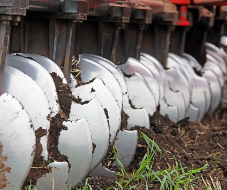 agricultural work on the cultivation of land in Russia photo