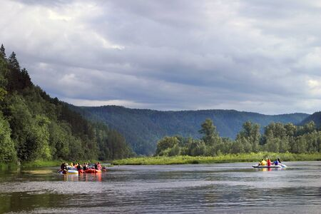 urals: white river rafting in the southern Urals