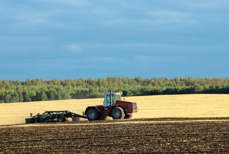 agricultural work in processing, cultivation of land in Russia photo