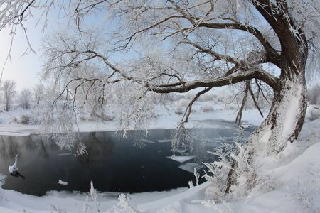 winters day on the river Zai-ice drift photo