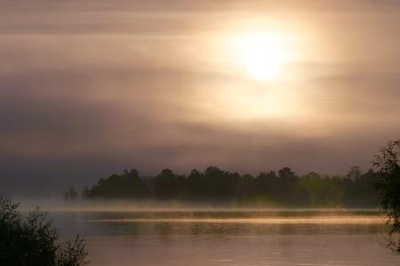 rising dead: a beautiful sunrise on the river Belaua