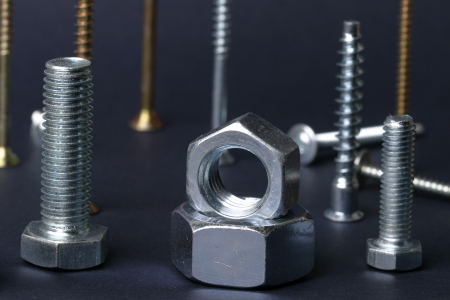 macro screws and nuts photo