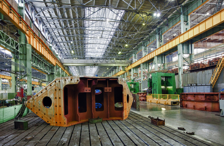 plant for the production of parts for the huge super cars Stock Photo - 22754601