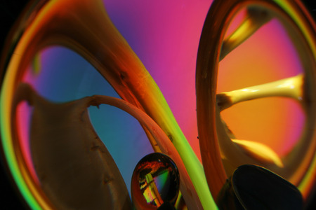 yello: still life illuminated spectral color Stock Photo