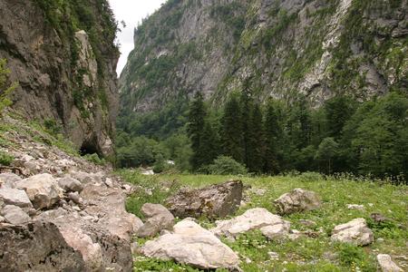 abkhazia: summer landscape in the mountains of Abkhazia