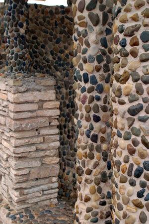 close-up of a decorative stone wall decoration photo