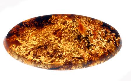 semiprecious: macro various single semi-precious stones isolated on white background studio
