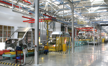 modern automated assembly line for cars photo