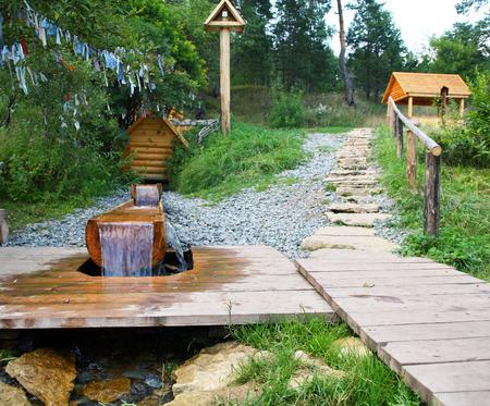 Sacred Source Healer Panteleimon Maly Bor near Elabuga summer Stock Photo - 27884774
