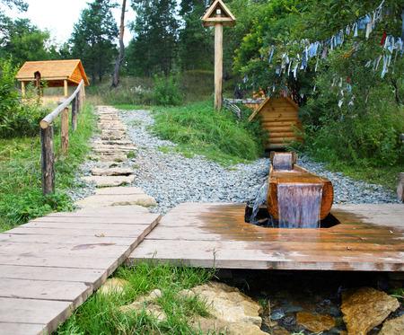 Sacred Source Healer Panteleimon Maly Bor near Elabuga summer Stock Photo - 27853550