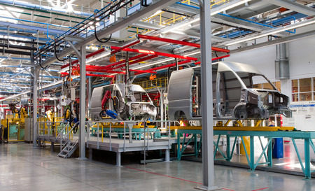 domestic production: modern automated assembly line for cars