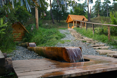 elabuga: Sacred Source Healer Panteleimon Maly Bor near Elabuga summer