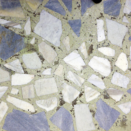 close-up fragment of marble flooring gray and white photo