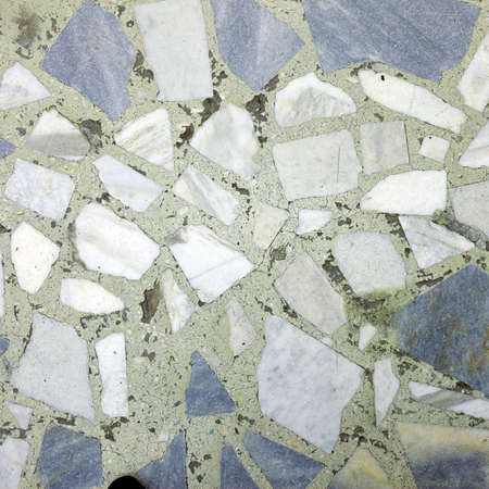 marble flooring: close-up frammento di pavimenti in marmo grigio e bianco