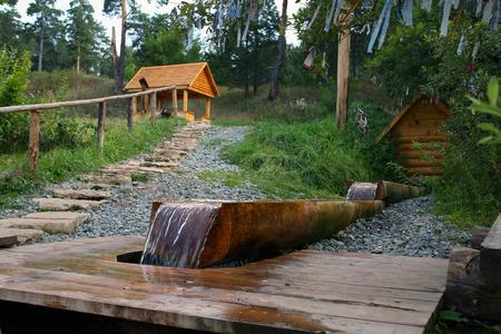 Sacred Source Healer Panteleimon Maly Bor near Elabuga summer Stock Photo - 28997147