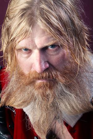 Nahaufnahme Porträt Eines Erwachsenen Mannes Mit Langen Blonden